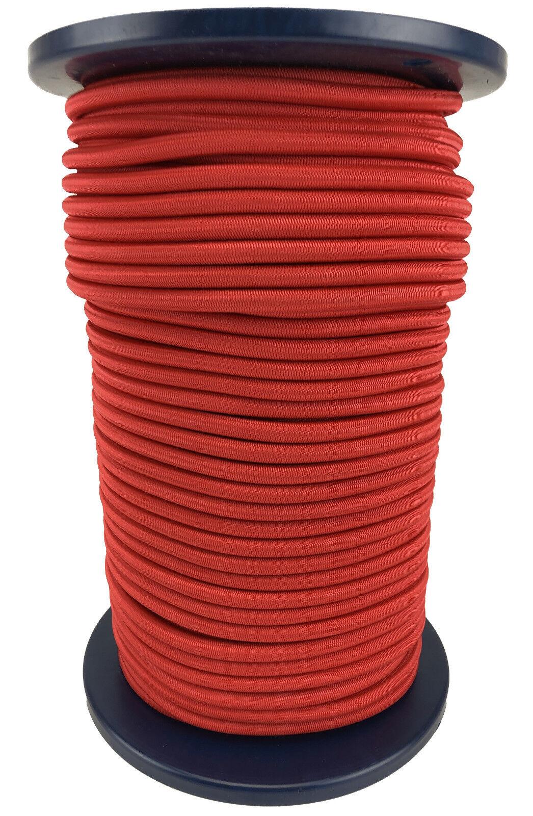 12 mm Rosso Elastico Bungee Corda. Corda Elastica Fissaggio x 100 Metre Bobina