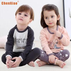 99e153137 New Kids Cotton Sleepwear Nightwear Baby Girls Boys Cartoon Pajama ...