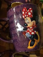 disney parks 3d minnie personality sweet ceramic coffee mug new