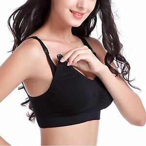 cd42612082cf2 Maternity Bra KUCI Women s Seamless Nursing Bra Padded Push up No ...