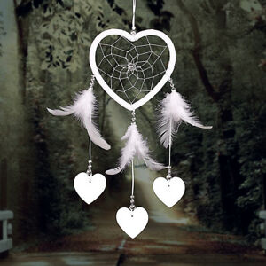Handmade-Heart-Dream-Catcher-with-Feather-Wall-Car-Home-Hanging-Decor-Ornament