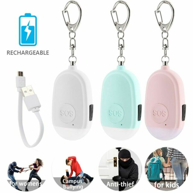 NEW 130dB Safe Sound Personal Alarm Self-defense Keychain Emergency Siren Songs
