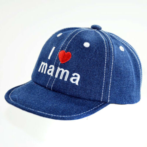 Kids Baby Letter Embroidery Hat Adjustable Denim Baseball Cap Sunhat 6M 3Y