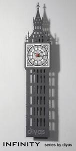 Humoristique Diyas Home Infinity Il70129 Horloge Big Ben-afficher Le Titre D'origine Forfaits à La Mode Et Attrayants