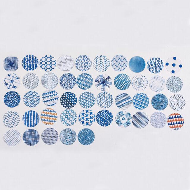 Decorative PVC Adhesive Scrapbooking Album Label Blue Impression Stickers-