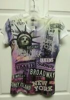 York Women Top Size Large Sweet Gisele Statue Of Liberty Broadway Queens