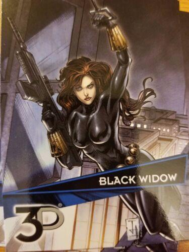 2015 Upper Deck Marvel 3D #3 Black Widow NrMint-Mint