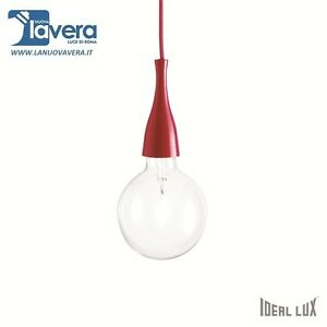 LAMPADARIO-IDL-MINIMAL-SP1-ROSSO-SUPER-PREZZO-LEGGI-DESCRIZIONE-E-FAI-UN-039-OFFERTA