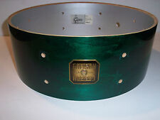 Gretsch USA Custom Drum Shell 6 Ply Snare 5x14 Forest Green Stain Lacquer 8 Lug