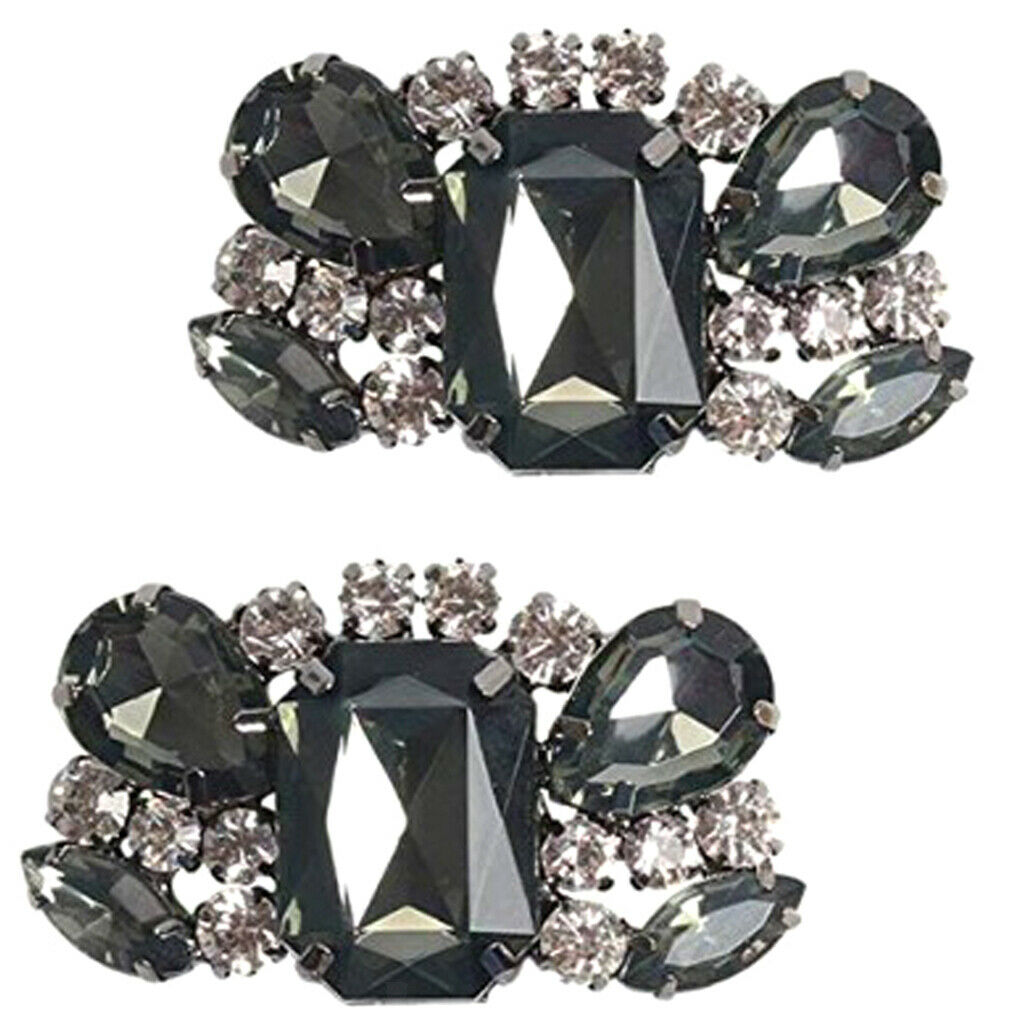 1 pair of bridal shoe clips wedding party rhinestone shoe clip buckle