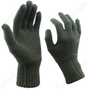 bf4ee5ce1 Image is loading Original-Belgian-Army-Wool-Gloves-Winter-Woollen-Military-