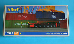Conteneur 40-fuß - 6 ST/KIBRI Kit // Piste h0  </span>