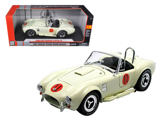 1965 Shelby Cobra 427 SC Cream #11 Limited Edition 1//18 Diecast Model Car B for sale online