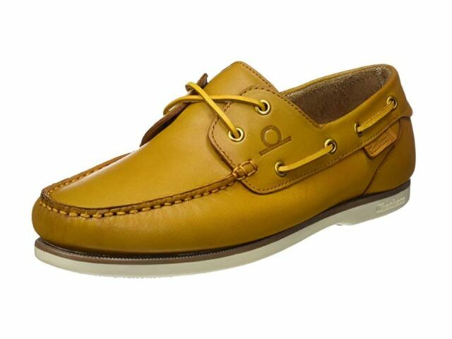 a07c787589ff90 Chatham Newton Yellow leather deck boat shoes men s size 15 UK   gauged NEW