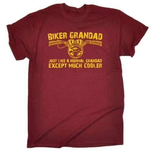 Funny Biker Grandad Motorbike Birthday Joke Humour tee Fashion T-SHIRT