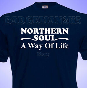 Northern-SOUL-A-Way-Of-Life-MENS-T-SHIRT-for-RETRO-Music-amp-SCOOTER-FANS