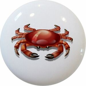 Crab Dresser Knobs Decorative Furniture Pulls