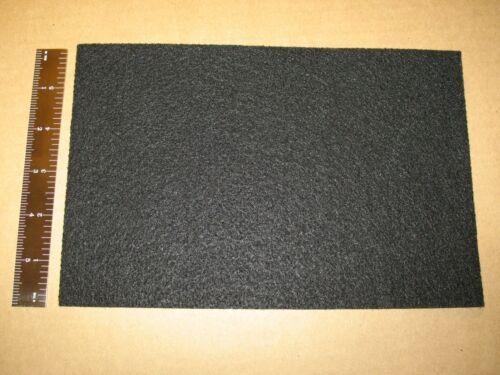 """BLACK 6x9in FELT PAD 6x9/"""" 1//16 THICK SELF PEEL n STICK 150mmx225mmx1.6mm"""