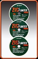 All Sizes Fox Carp Fishing Zig /& Floater Trans Khaki Floating Hooklength Mono