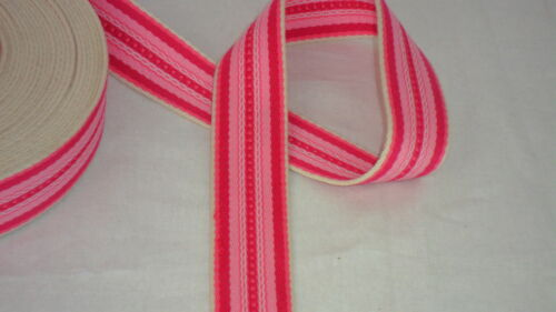 Cotton Webbing Belt Making Strap Thick Tape Strapping Bag Stripe Pattern 34mm