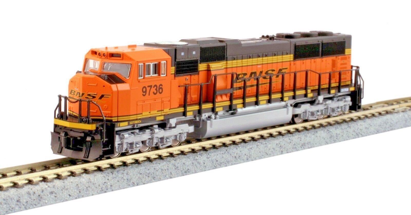 Escala N-Kato 176-6320-DCC BNSF (Swoosh) locomotora SD70MAC  9736 DCC equipado