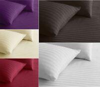 3 Piece Satin Stripe Duvet Quilt Cover with Pillow Case Bed Linen Bedding Set