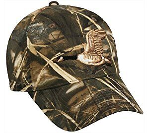 80ac9a48089f5 Image is loading Outdoor-Cap-Embroidered-Goose-on-Camo-Cap-1-