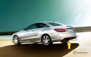 Neu-Original-Mercedes-Benz-E-Klasse-W207-AMG-Hintere-Stossstange-Schwarz-Diffusor