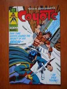 100% De Qualité Coyote #4 1984 Marvel Comics [sa44] Bonne Conservation De La Chaleur