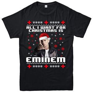 AlI-I-Want-For-Christmas-T-Shirt-Eminem-Xmas-Gift-Unisex-Adult-amp-Kids-Tee-Top