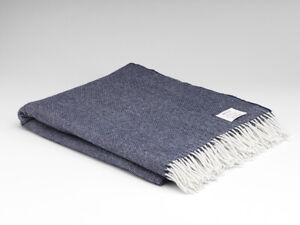 McNutt-Navy-Herringbone-Large-Irish-Blanket-Throw-Made-in-Ireland-100-Wool
