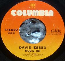 """*<* """"Hey kids...ROCK ON...Jimmy Dean"""": DAVID ESSEX 1974 #5 CLEAN M- 1st PRESS 45"""