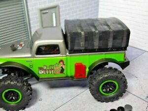 Betty-Soft-Top-Black-3d-printed-SCX24-B-17-Model-Accessory-RC-prop-Kit-USA