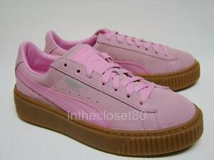 b81ec72294e Image is loading Puma-Basket-Suede-Platform-Creepers-Prism-Pink-Juniors-