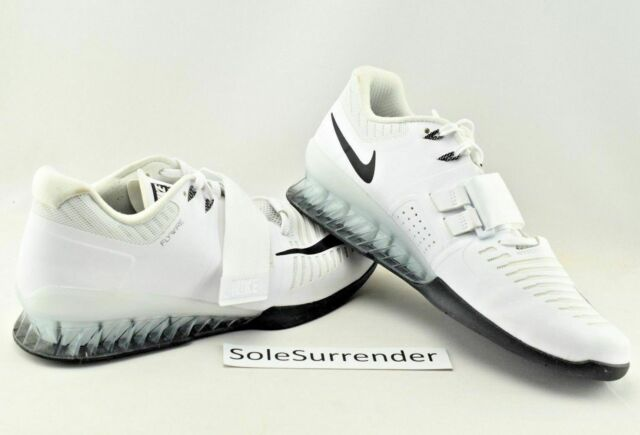 fd556b63932e4 Nike Romaleos 3 Weightlifting Shoes All-white 852933-100 US Men Sz ...