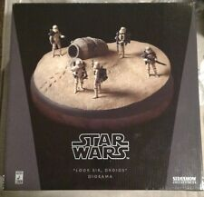 Star Wars Sideshow Exclusive Diorama Look Sir Droids #123/1250