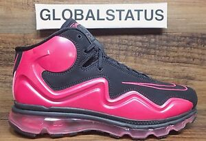 2012 NIKE AIR MAX FLYPOSITE BREAST CANCER BLACK VIVID PINK SHOES