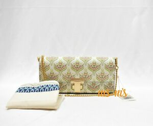 NWT-Tory-Burch-PINK-MERIDIAN-Juliette-Printed-leather-Clutch