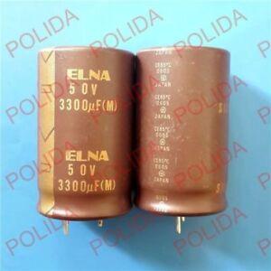 1PCS ELNA SILMIC Ⅱ AUDIO condensateur électrolytique 30*50mm 3300UF50V/50V3300UF