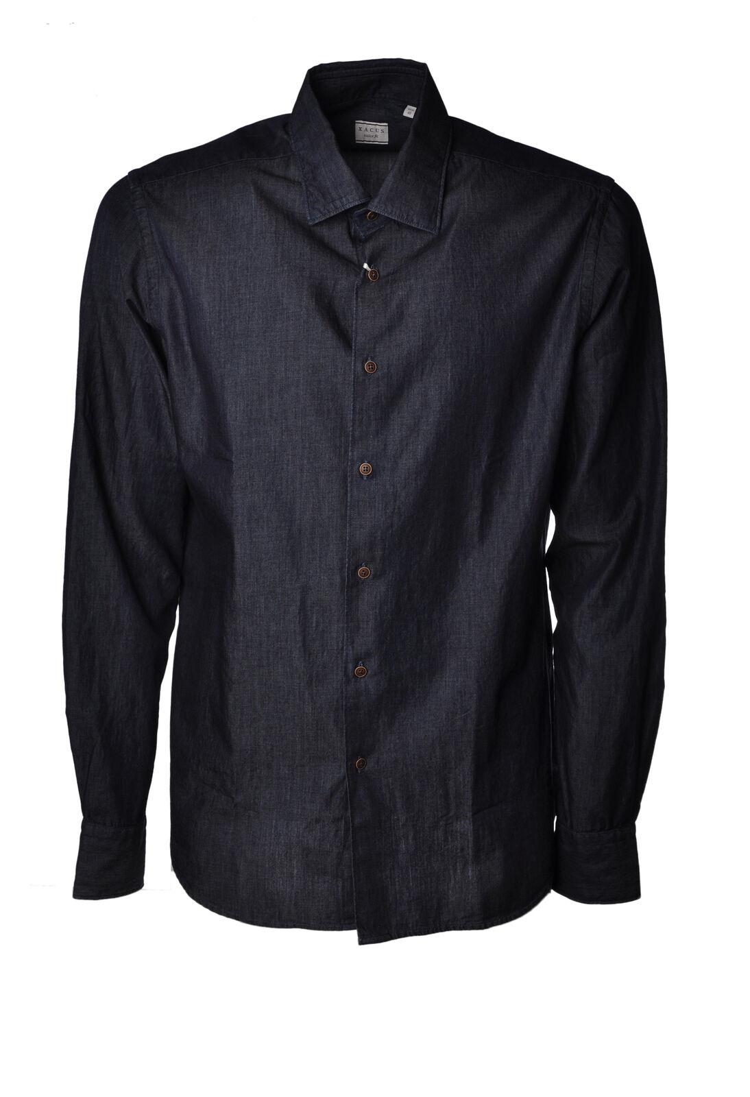 Xacus  -  Shirts - Male - Denim - 3176615A183700