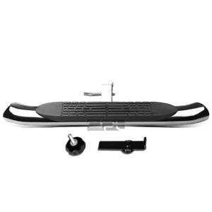 37x4 Inches Oval 2 Inches Receiver Mild Steel Trailer Towing Tailgate Hitch Step Bar Black
