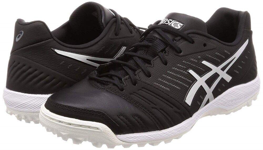Nuevas ASICS destaque TF FF Zapatos De Futsal Fútbol Indoor Fútbol 1111A004 Negro EMS