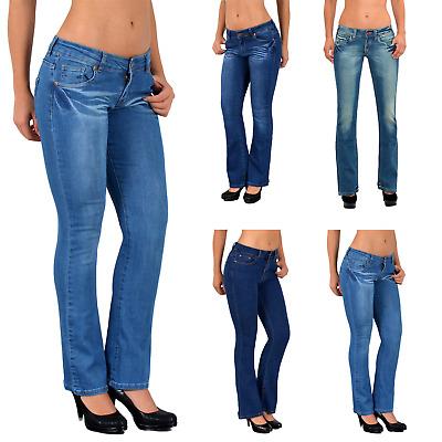 Damen Jeans Stretch Hose Röhre Röhrenjeans Hüftjeans Damenjeans 606