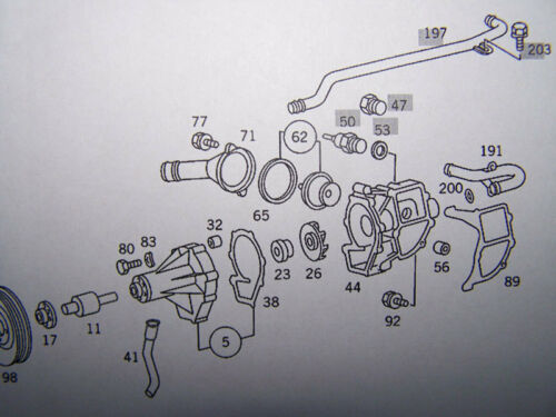 Mercedes-Benz OM 601 602 603 604 606 Thermostat 85C with Seal NEW ...