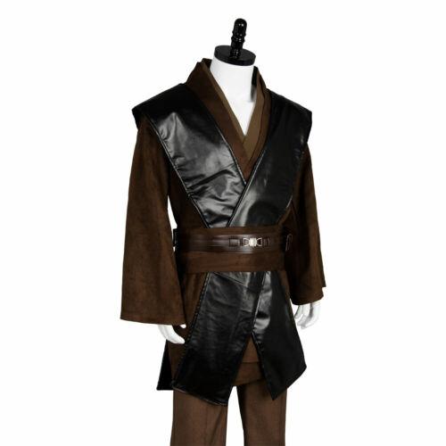 Star Wars Jedi Anakin Skywalker Sith Darth Vader Suit  Costume Cape Cosplay