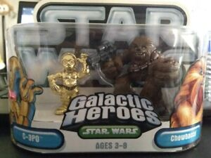 Star-Wars-Hasbro-Galactic-Heroes-Figures-C-3PO-and-Chewbacca-2005