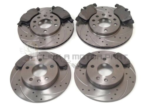 VAUXHALL ASTRA H MK5 1.6 16V SXi SRi FRONT /& REAR DRILLED BRAKE DISCS AND PADS