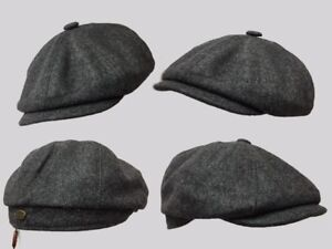 3fece8ee6 Details about 8 panel bakerboy,newsboy,peaky blinder 1920s CHEESE CUTTER  FLAT CAP