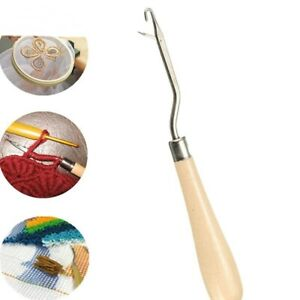 Latch-Hook-Wooden-Handle-Rug-Making-Tapestry-Hinged-Hook-one-Piece
