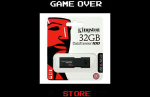Pen Drive Kingston DataTraveler 100 G3 32GB USB 3.0 Chiavetta Flash Drive-Nero